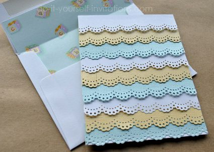 Make Your Own Homemade Baby Shower Invitations. These Ruffle Baby Shower  Cards Are Easy To Make, Unique, And Gorgeously Elegant.