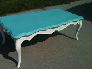 """Annie Sloan Painted Coffee Table """"Priscilla"""" For Sale!!"""