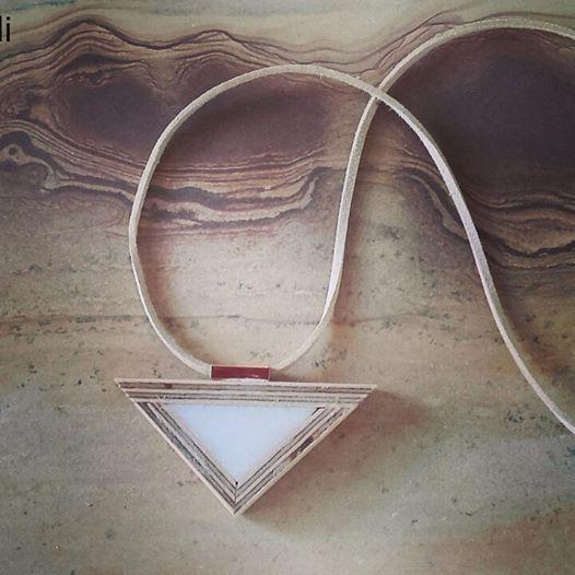 marble-wood pendant