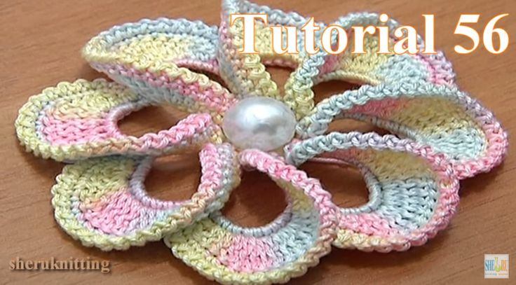 Begin to crochet with our free crochet flower tutorials. This crochet spiral flower has 8 petlas. To...