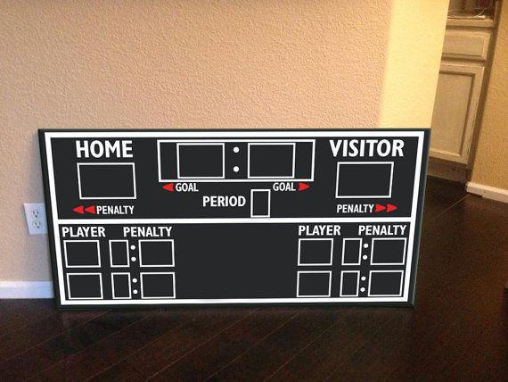 Scoreboard hockey scoreboard hockey decor hockey by RadGraffix, $135.00