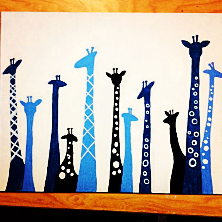 Diy giraffe painting canvas @Jenne Brauchle CHECK IT OUT GIRL!! C: