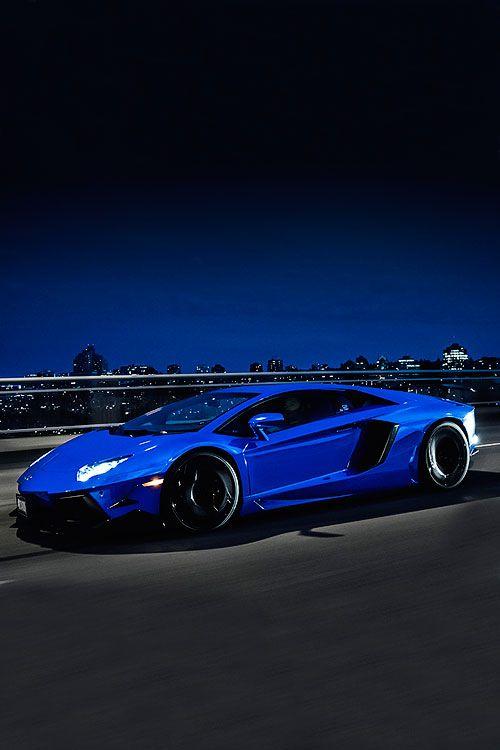 Lamborghini Chrome Blue Aventador by Marcel Lech