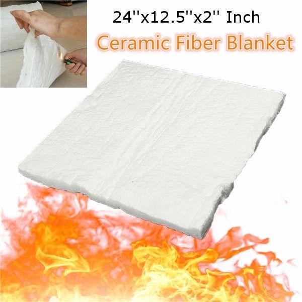 24x12.5x2 Inch Aluminum Silicate High Temperature Insulation Ceramic Fiber Blanket