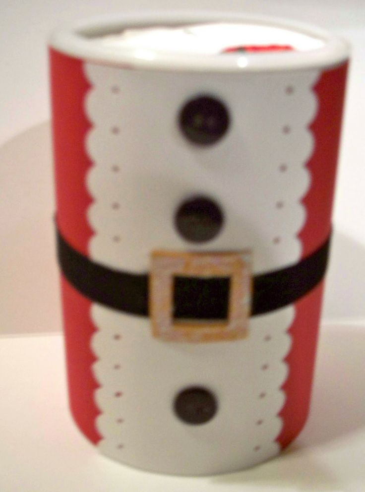 oatmeal canister santa | Passionately Paper: November 2010