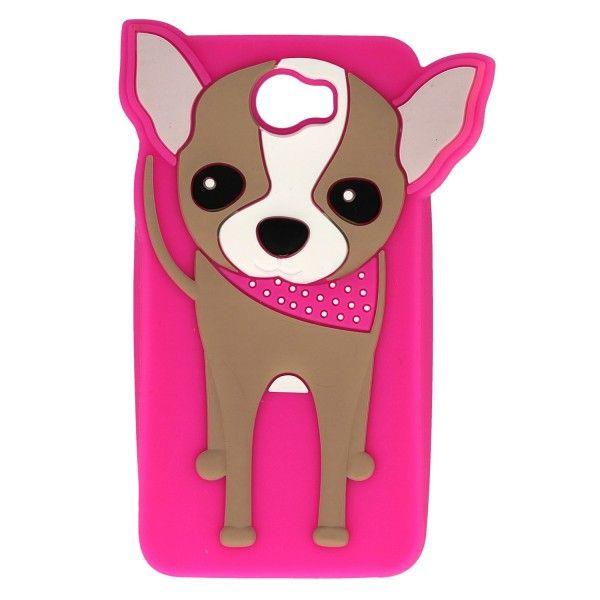 Etui obudowa GUMA piesek pies różowy do Huawei Y5 II Chihuahua