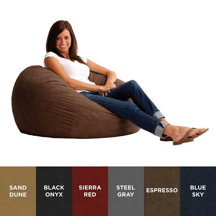 FufSack 3-foot Large Memory Foam/ Microfiber Bean Bag Chair | Overstock.com Shopping - Big Discounts on Bean & Lounge Bags