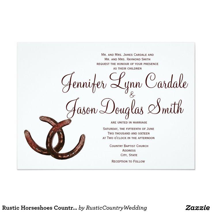 Rustikale Hufeisen Land Hochzeits Einladungen 12,7 X 17,8 Cm