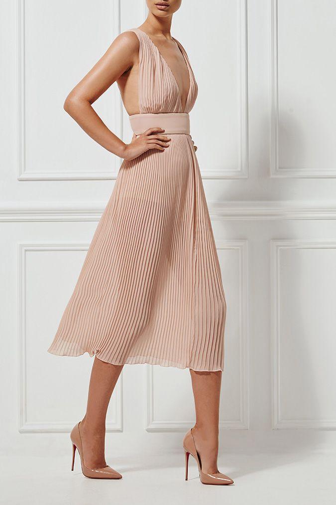 PRE-ORDER - MARIKA DRESS NUDE - Dresses - Shop