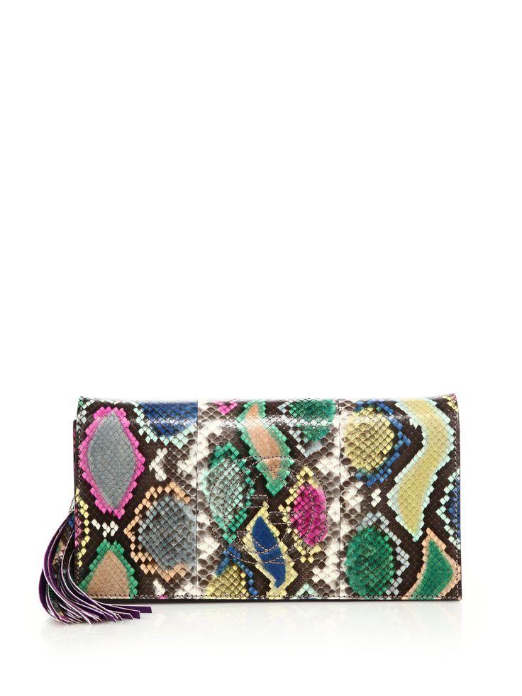 Gucci   Multicolor Soho Python Clutch   Lyst