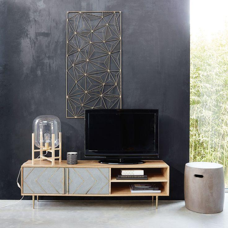 Porta-TV a 2 ante in legno massello di mango | Maisons du Monde