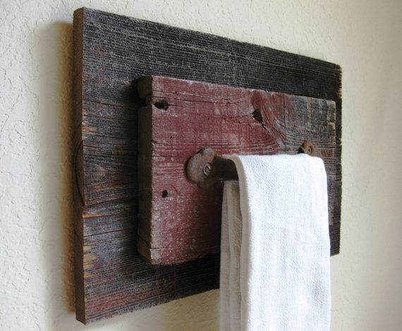 Reclaimed Barn Wood and Vintage Salvaged Door by PhloxRiverStudio. Skip the rusty handle though
