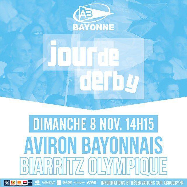 Ouverture de la billetterie pour le #derby #ABBO au stade Jean-Dauger !  Plus d'informations sur abrugby.fr