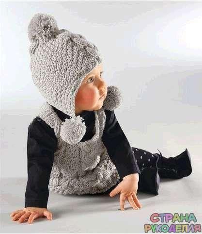 Детская шапочка. Спицы - Головные уборы.Шарфы - Вязание для детей - Рукоделие