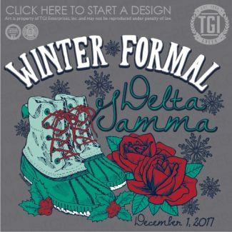 Delta Gamma | DG | ΔΓ | Winter Formal | Holiday | TGI Greek | Greek Apparel | Custom Apparel | Sorority Tee Shirts | Sorority Tanks | Sorority T-shirts
