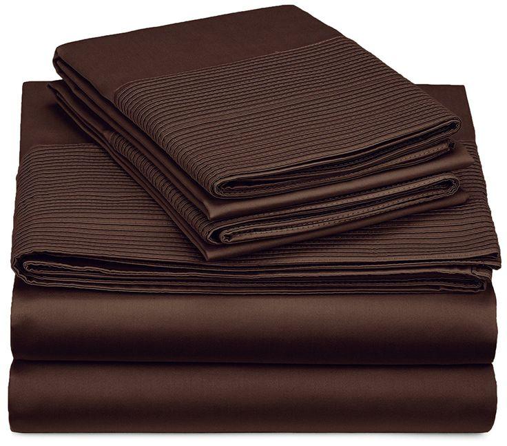 Pinzon 400-Thread-Count Pleated Hem Egyptian Cotton Sheet Set