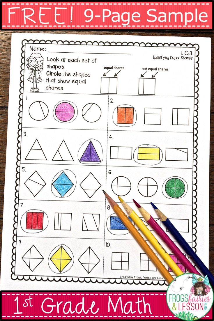 Worksheet 1st Grade Fractions 30 best fractions images on pinterest fraction activities math this is a free sample of comprehensive 1st grade practice and assessments resource