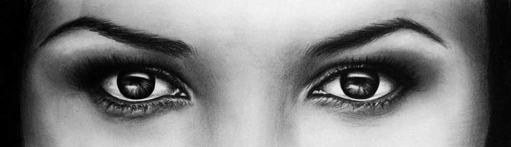 Eyes - Girl - Desen în Creion de Corina Olosutean // Eyes - Girl - Pencil Drawing by Corina Olosutean