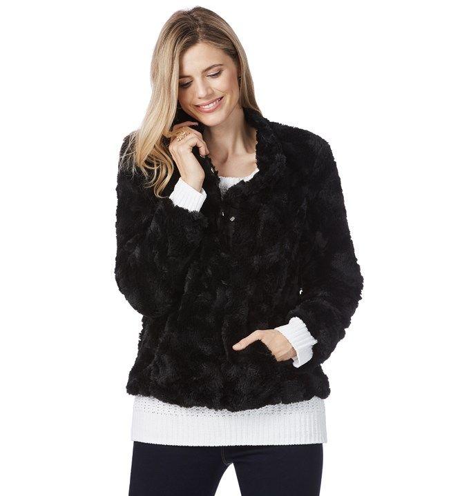 Rockmans Longsleeve Teddy Fur Jacket