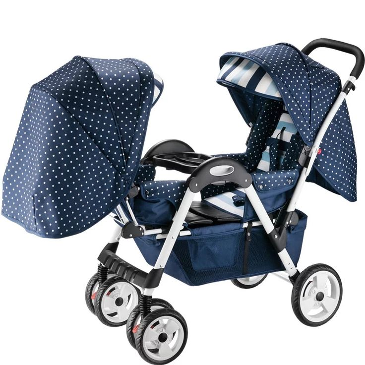 New European Style Pram Twins Baby Carriage Car Travel System,Folding Twins Baby Stroller,Double Stroller Prams and Pushchairs