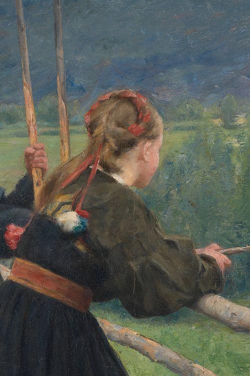 September by Erik Werenskind 1883 detail