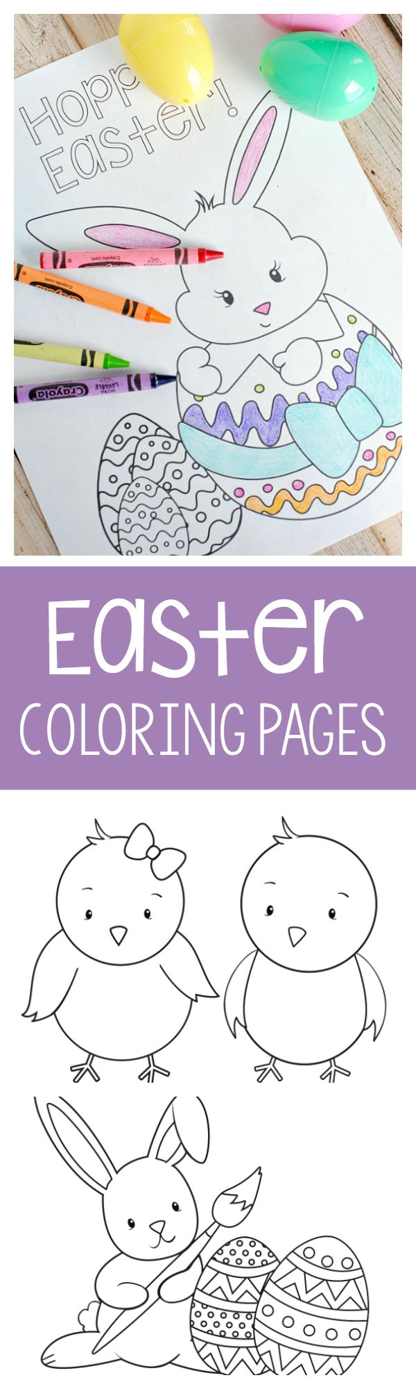 Coloring pages of spring things - Easter Coloring Pages