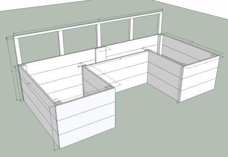 U Shaped Dynamic Raised Garden Box Plans » The Homestead Survival