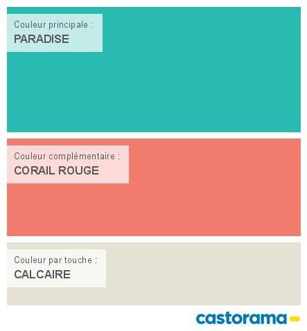 Castorama Nuancier Peinture - Mon harmonie Peinture  PARADISE satin de COLOURS Collection