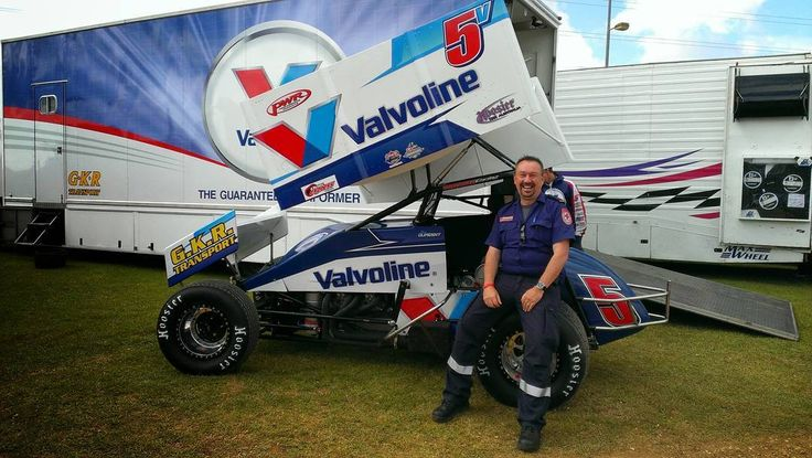 """10 years a Paramedic today. A commemorative pic of me """"working""""........ Premier Speedway Warrnambool public duties on the wheel of mighty Max Dumesny's sprintcar in the pits. Happy days........ #paramedic #sprintcar #max #premierspeedway #sungoldstadium by fatboydarky"""