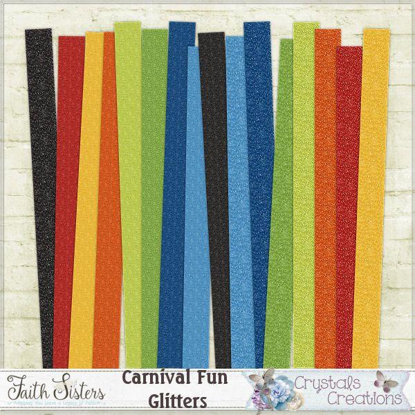 Carnival Fun Glitter Papers