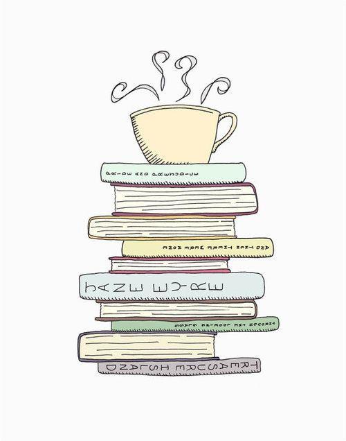 books and coffee: