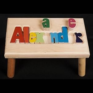139 best gifts for babies and children images on pinterest baby give a child a step up in life with their own personalized name puzzle stool handcrafted negle Image collections