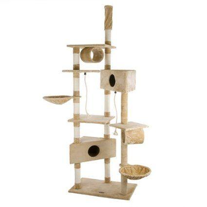 Happypet® CAT015-2 Arbre à chat Griffoir Grattoir 230-260cm Gris: Amazon.fr: Animalerie