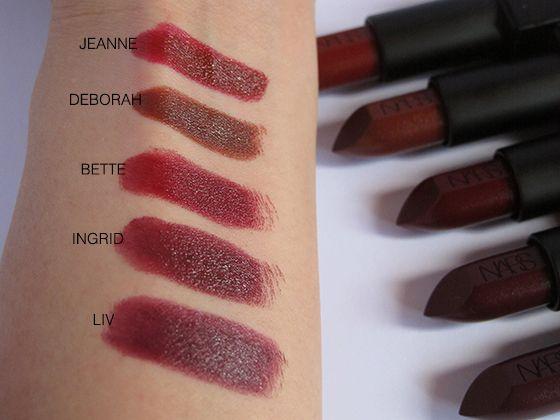 NARS Audacious Lipsticks Part Four - Swatches & Review