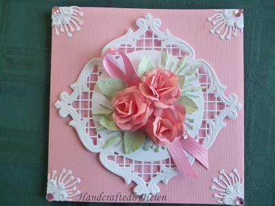 Handcrafted by Helen: Pink Ribbon Card
