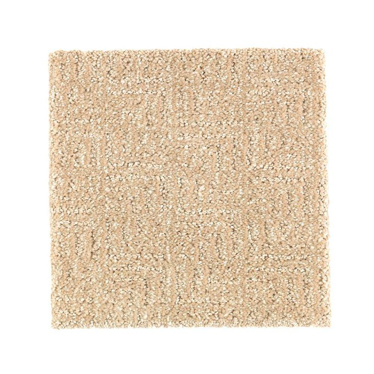 Carpet Sample - Scarlet - Color Old Bridge Pattern 8 in. x 8 in.