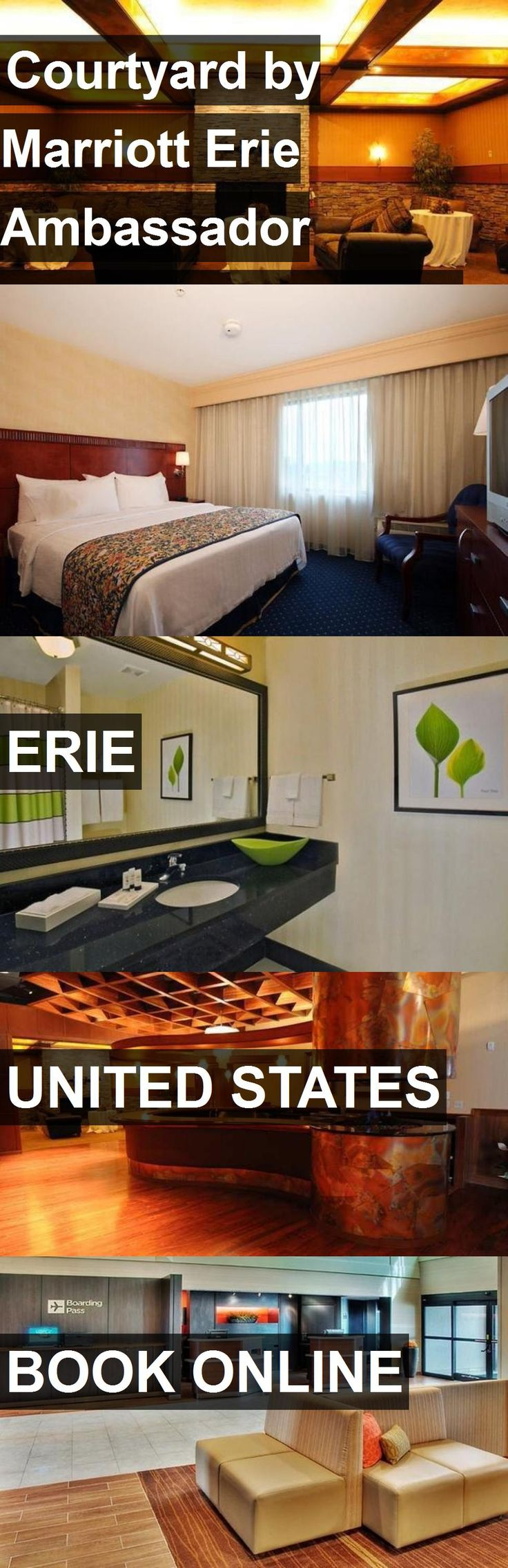 Hotel Courtyard by Marriott Erie Ambassador Conference Center in Erie, United States. For more information, photos, reviews and best prices please follow the link. #UnitedStates #Erie #travel #vacation #hotel