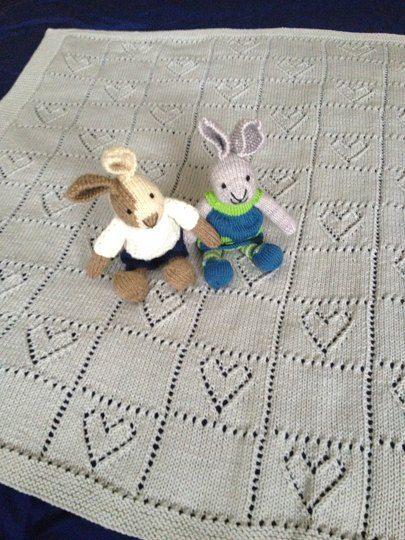 Hearts Baby Blanket knitting project by GRACE W | LoveKnitting