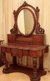 Victorian Vanity. To die for !!! This is sooo me, but imagine it painted.