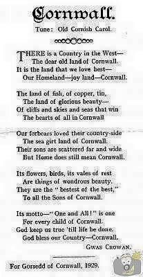 "CARN BREA (1929) | '""Cornwall"" (tune - ""Old Cornish Carol"") for the Gorsedd of Cornwall 1929' ✫ღ⊰n"