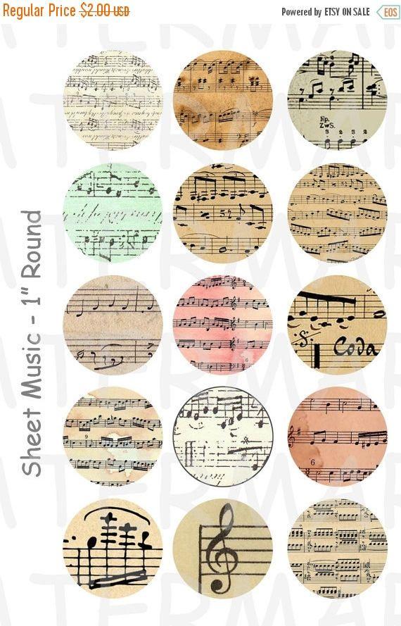 50 % OFF partition de musique 4 x 6 feuilles de Collage