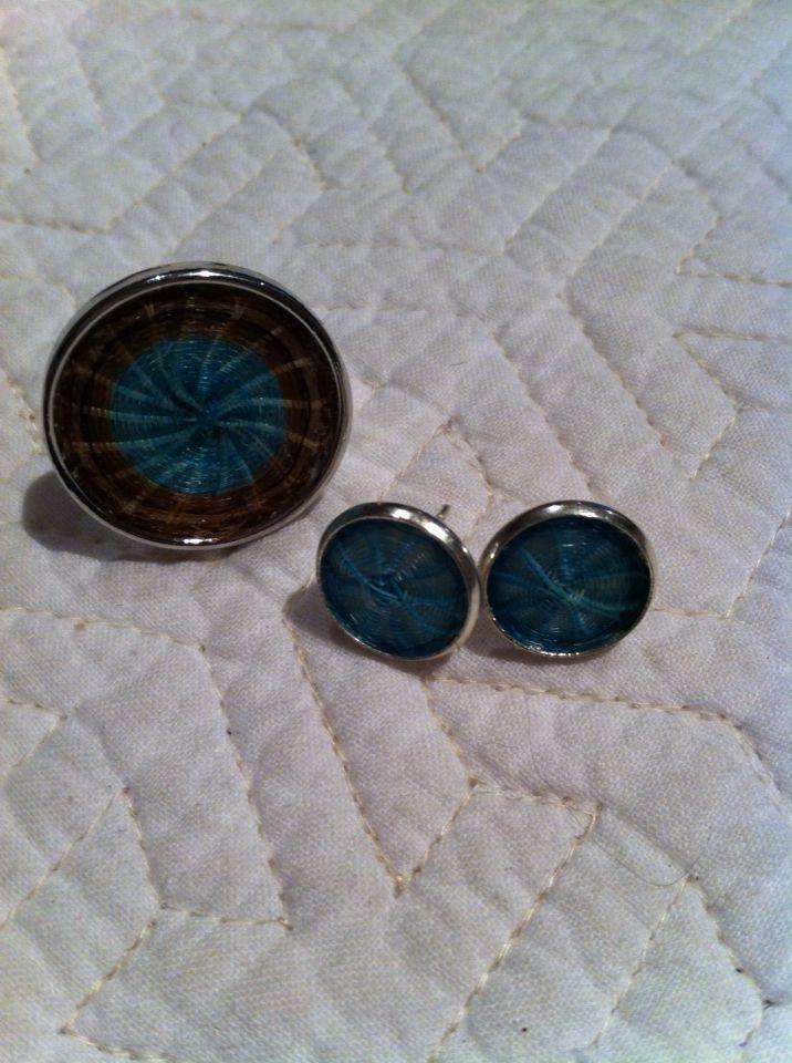 Conjunto de aros y anillo de crin