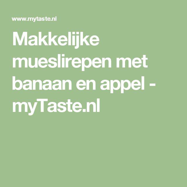 Makkelijke mueslirepen met banaan en appel - myTaste.nl