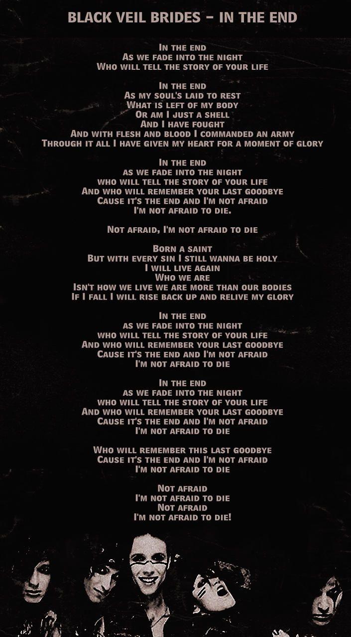 In The End Black Veil Brides Quotes. QuotesGram