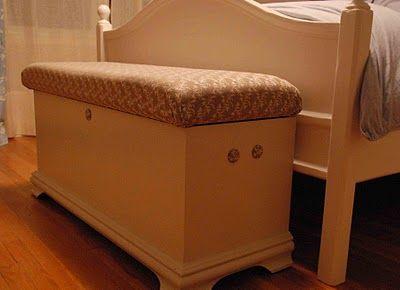 Upholstered cedar chest/seat