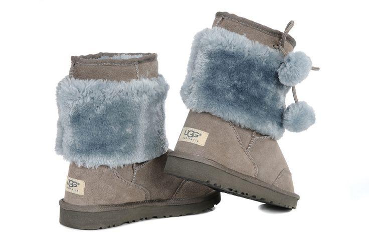 Kids UGG Boots - Classic Short - Grey - 5899