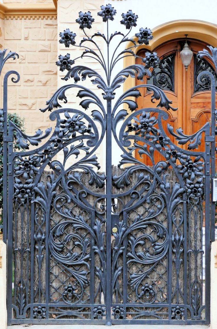 Pin antique garden gates in wrought iron an art nouveau style on - Find This Pin And More On The Garden Gate Love This Art Nouveau