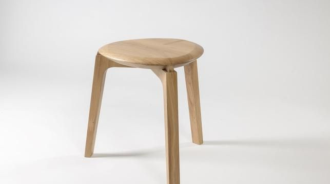 """Tre-Foil"" stool by Ruxandra Sacalis. An inspiration from the traditional Romanian three-legged stool."