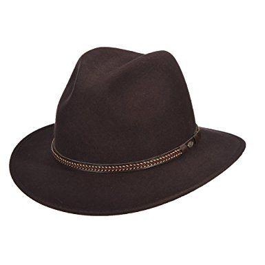 cbde6bc10ff Scala Classico Men s Crushable water repellent Wool Felt Safari Hat Review