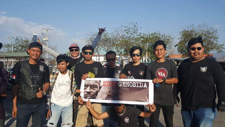 Peduli Rohingya, All Custom Bikers KSB Gelar Aksi Penggalangan Dana.